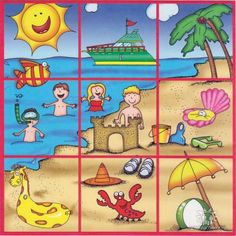 Arquivo dos álbuns Preschool Learning Activities, Summer Activities For Kids, Infant Activities, Nursing Printables, Special Education Behavior, Printable Puzzles, Kids English, Narrative Writing, Teaching Aids
