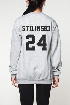 Stiles Stilinski shirt sweater women sweatshirt by OnemoreToddler