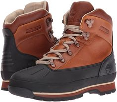 Timberland Men's Euro Hiker Shell Toe WP Winter Boot, Burnt Orange Full  Grain, 9