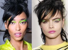 Jeremy Scotts Fall 2013 Makeup Is Electric