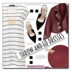 """""""Throw and Go Dress"""" by selena-gomezlover ❤ liked on Polyvore featuring Diane Von Furstenberg, Lord & Taylor and Kenneth Jay Lane"""