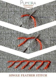 single feather stitch tutorial