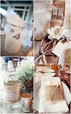 la wedding & event planner: INSPIRACIÓN RÚSTICA