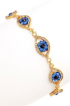 Evil Eye Bracelet by Meghan Fabulous on @HauteLook