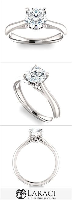 Jewelry & Watches Candid Elegant Wedding Fine Jewelry Ring 4mm Round Cut Semi Mount Solid 925 Sterling At Any Cost