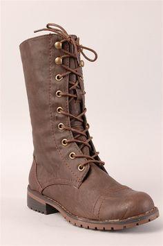 Brown combat boot $24