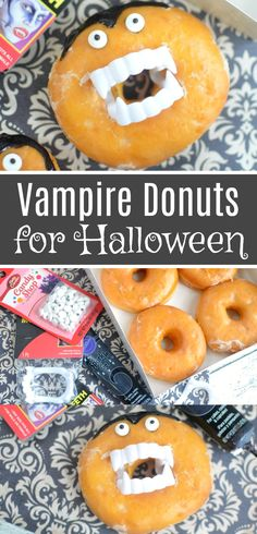 Vampire Donuts for Halloween - Super Cute & Easy Dracula Donuts