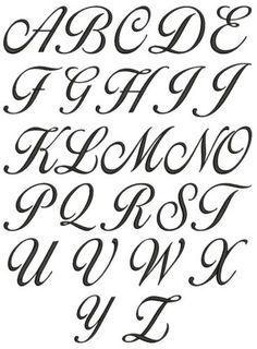 Cursive Alphabet A To Z A z cursive lettering for Alphabet A, Cursive Fonts Alphabet, Fonte Alphabet, Tattoo Fonts Cursive, Hand Lettering Fonts, Lettering Tutorial, Lettering Tattoo, Letters In Cursive, Alphabet Style