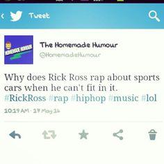 Follow us on twitter: @The Homemade Humour #RickRoss #rap #hiphop #music #twitter #tweet #lol #f4f