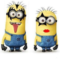 Minion KISS band members -  - Despicable Me movie - humor funny