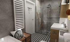 Dom Brwinów 200 m2 - Mała łazienka w bloku bez okna, styl nowoczesny - zdjęcie od Grafika i Projekt architektura wnętrz