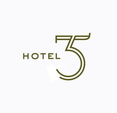 'Hotel 35' - Nice, professional look given by the calligraphy and color choice. The 35 could almost be a logo in itself, giving a good mix for the logotype.
