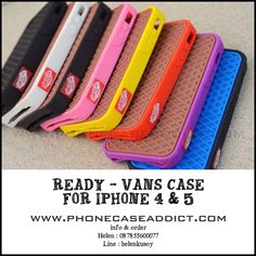 Vans case for Iphone 4 & 5. All ready in stock.  Info & Order : +6287855600077 |  Line : helenkusoy |  Instagram : @pcasby |  Twitter : @phonecaseaddict |  Website : http://www.phonecaseaddict.com | #vans #fashion #case #color #waffle #cute