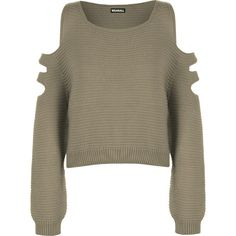 80b0a791026a Featuring an interesting cut out shoulder design with three large cut out  panels on each sleeve and a slightly cropped short length, this knitted  jumper is ...