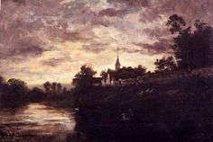 Charles-François Daubigny (French 1817–1878), Banks of the Oise.