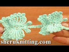 Crochet Butterfly Cord Tutorial 57 How to Crochet Butterflies - 34:40 | Play | Eggcellentrecipes.com