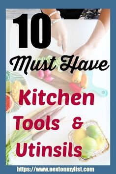 All kitchens must have these essential utensils and tools to make cooking efficient and fun. The10 utensils on my list make great gifts for new cooks. Add them to your list, and make cooking easy. #cooking #cooking-tools #kitchen #utinsils #best-cooking
