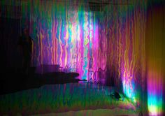 Solace, a rainbow wall made out of bubbles