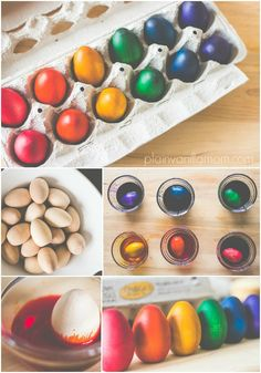 How to DIY rainbow dyed wooden eggs. Perfect wooden toy for children or beautiful to decorate with.