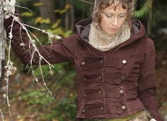 Chocolate brown Aurora jacket with fleece lining