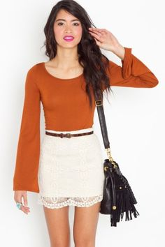 bell sleeve tee..cute fall outfit
