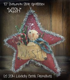 Primitive Christmas Crafts, Primitive Snowmen, Farmhouse Christmas Decor, Xmas Crafts, Christmas Snowman, Rustic Christmas, Christmas Projects, Christmas Diy, Christmas Ornaments