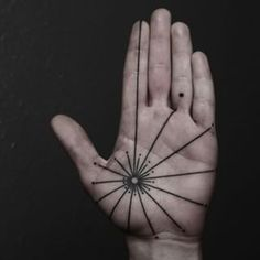 This mystical palm. | 43 Black Ink Tattoos That Will Awaken You Sexually