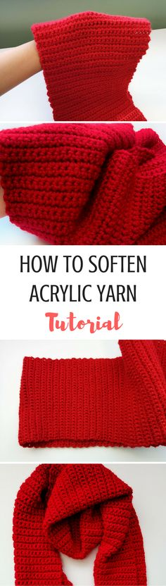 Learn how to soften acrylic yarn in just a few easy steps! No more scratchy projects and stiff scarves!