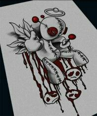 brb Brb brb Source by Scary Drawings, Dark Art Drawings, Tattoo Drawings, Voodoo Doll Tattoo, Voodoo Dolls, Arte Horror, Horror Art, Vodoo Tattoo, Graffiti Art