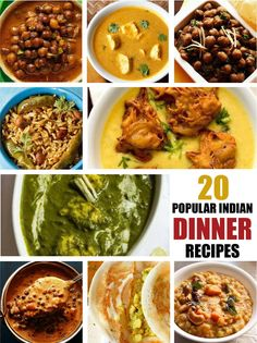 I am sharing a collection of some recipes that can be made for lunch or dinner. The idea is not just to share the recipe, but you will also get ideas based on the collection and can try or make some other recipe not posted here. I have included both North Indian and South Indian dinner recipes.