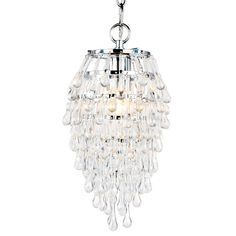 I pinned this Crystal Teardrop Chandelier in Clear from the AF Lighting event at Joss and Main!