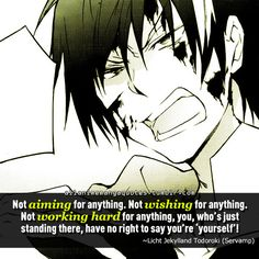 The source of Anime quotes & Manga quotes : Photo Servamp Anime, Anime Life, Amazing Quotes, Great Quotes, Inspiring Quotes, Servamp Manga, Anime Rules, Anime Reccomendations, Manga Quotes