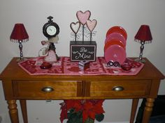 #Valentines Decorating around the house after Christmas.