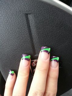 Green and purple nails :)