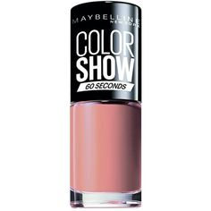 Maybelline Color Show Nail Polish Number 1, Go Bare (180 DOP) ❤ liked on Polyvore featuring beauty products, nail care, nail polish, maybelline nail color, maybelline nail polish and maybelline