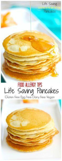 Gluten Free Egg Free Pancakes (Vegan)- Basic Life Saving baking for food allergies and tips to help- dairy free, soy free: