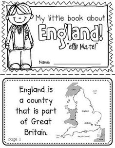 England Booklet (a country study!)-- Use during social studies units about countries around the world! TeachersPayTeachers