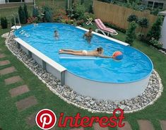 20 Creative Swimming Pool Design Ideas Offering Great Inspirations for Yard Landscaping – backyard design ideas Above Ground Pool Landscaping, Above Ground Pool Decks, Backyard Pool Landscaping, Backyard Pool Designs, Backyard Projects, In Ground Pools, Landscaping Ideas, Patio Ideas, Backyard Ideas