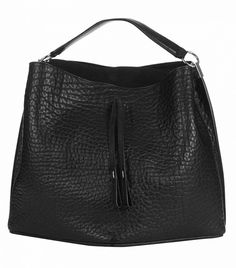 Maison Margiela Grained-Leather Bucket Bag // Black bag