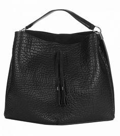 Maison Margiela Grained-Leather Bucket Bag // Black bag
