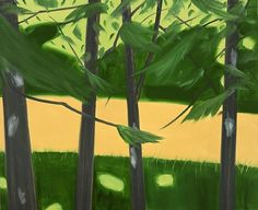 Alex Katz (American, b. 1927), Four Trees, 2005. Oil on canvas, 167.7 x 213.4 cm. Galleria Monica De Cardenas, Milan.