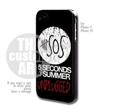 5 seconds of summer unplugged - For iPhone 4 / 4s | TheCustomArt - Accessories on ArtFire