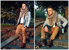 Jacque Cuzzi - Zara Boots, Zara Chino, Zara Blazer, Handmade Scarf, H&M Cardigan - Autumn Leafs