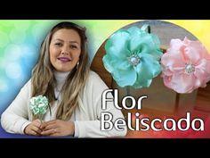 Flor Beliscada Com Fita de Cetim. - YouTube