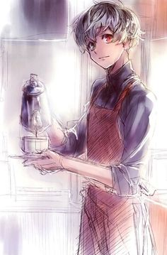 Kaneki/Haise: Do you want a cup of coffee? Me: YES!!! I WANT!!! I WANT!!!