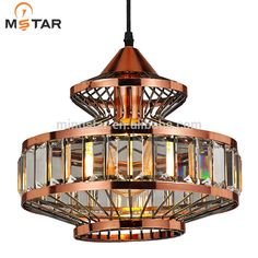 Modern glass single crystal pendant lighting Hot selling