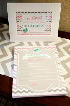 Project Nursery - Baby Wishes Form for Elephant Baby Shower