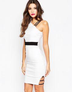 Vesper+Colourblock+Midi+Dress