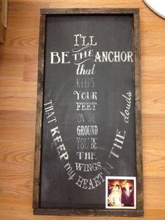 I'll be the anchor by FramedinLove on Etsy, $65.00