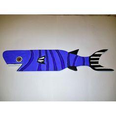 Sharky Mavi Ahşap Balık